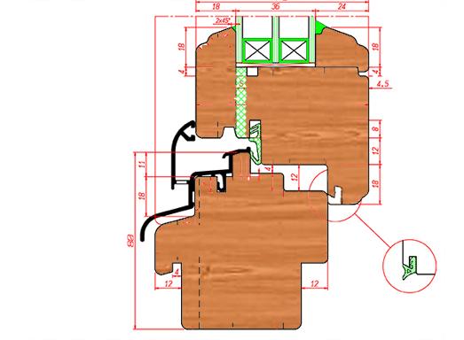 Фрезы для производства окон 78х80 фигурный комплект