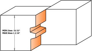 Фреза сращивания для клеевых соединений CMT