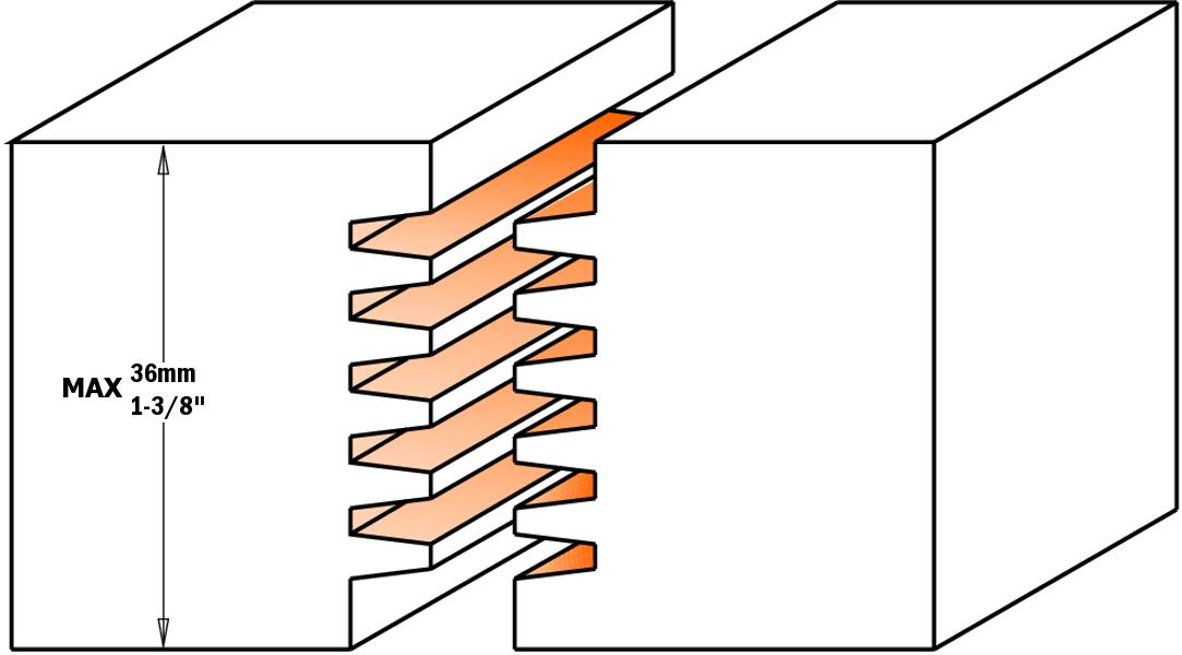 Фреза сращивания для клеевых соединений СМТ