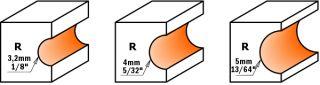 Фрезы для боковых полукруглых пазов c подшипником СМТ