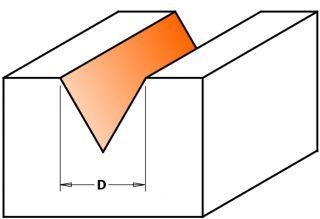 Фрезы гравировальные (угол 60°) Z=3 СМТ