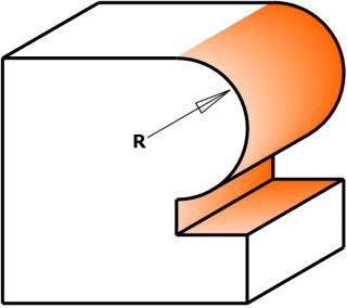 Фрезы с подшипником для закругления углов CMT