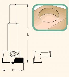 Фреза чашечная с регулируемым диаметром WPW