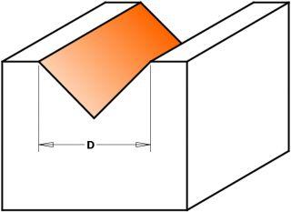 Фрезы пазовые V-образные 90° СМТ