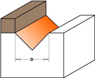 Фрезы пазовые V-образные 90° с подшипником СМТ