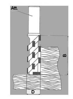 Спиральная многорезцовая фреза для сверления и обрезки по контуру G3