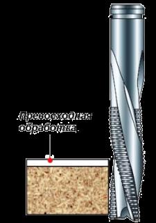 Фреза концевая монолитная НМ спиральная с измельчителем стружки  Z=3