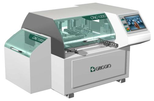 Сверлильный центр с ЧПУ проходного типа CNC 1000 с фрезерной головкой